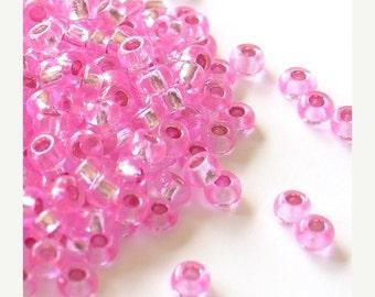35% OFF SALE 9/0 Gutermann Premium Seed Beads - Medium Pink Glitter - 14 grams - 5240