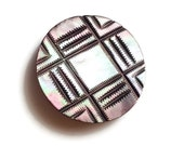 Large and Beautiful Vintage Mother of Pearl Button, Vintage Shank Button