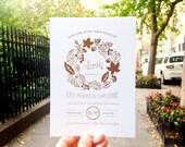 Fall Leaves Wedding Invitations 50 Invitations