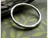 SALE - 25% off Hammered ring - recycled fine silver ring