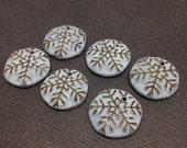 Tiny Gilded Snowflake Charms