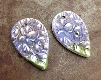 Hydrangea Garden Vignette Teardrop Earring Charms
