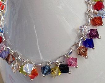 Swarovski Crystals Dangles Bracelet