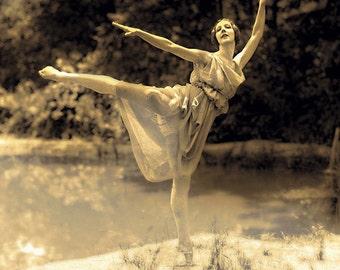 Ballerina Ballet  Digital Print  Woodland Goddess Printable Art Instant Download Commercial Use Digital Paper  Graphic Designer