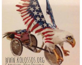 Eagle Art Bike Parade Float