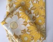 Floral retro pillowcases 1970's