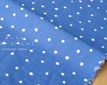 Japanese Fabric Cotton Voile - starry dots - blue - 50cm