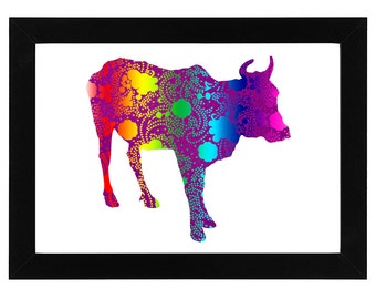 Psychedelic Sacred Cow Print