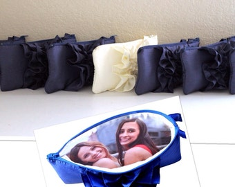 Bridesmaid Photo Clutches With Your Favorite Pictures- Set of 7 Photo Clutches