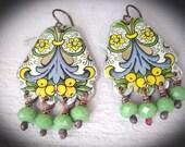 Tin Earrings. Bohemian Bliss. Gypsy Dangle Earrings.