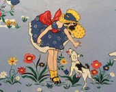 """SALE! Puppies and Petticoats by American Folk and Fabric - last piece - 31"""" long"""