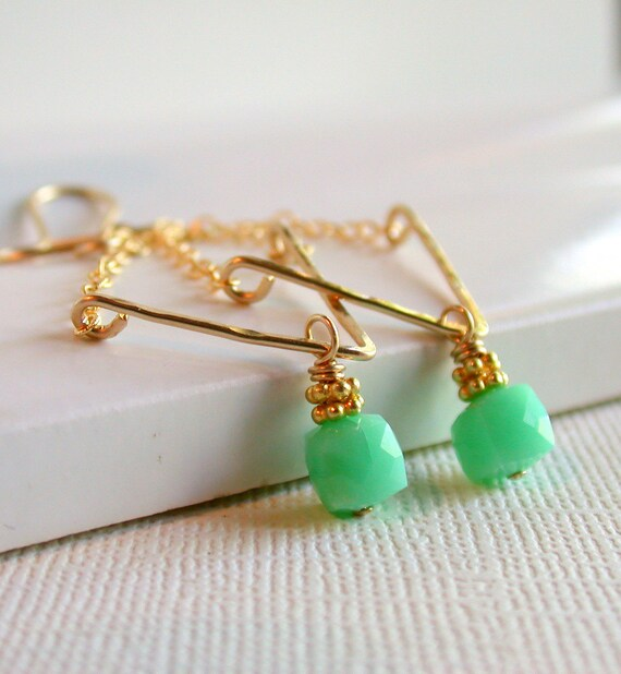 Chrysoprase Swing Earrings