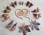 Sihaya Designs Earring Wardrobe -- October Rust -- Autumn Fall Mix and Match Earring Set