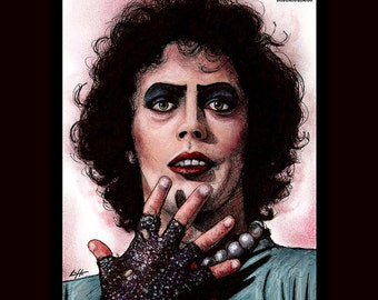 "Print 8x10"" - Dr. Frank N Furter - Rocky Horor Picture Show Tim Curry Musical Drama Sex Sweet Transvestide Pop Art Dark Vintage Halloween"