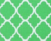 Green Quatrefoil Fitted Crib Sheet - Your Choice of Pattern - See Pictures