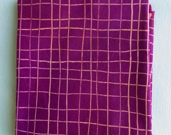 Skinny Stripes Grids Hand Dyed and Patterned Cotton Fabric