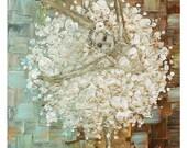 Ballerina Canvas PRINT Art Eclectic White Tutu Dress Wall Art Modern Ballet Fine Art by Susanna