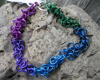 Shaggy Weave Chainmaille Bracelet CB103
