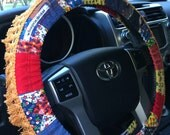 Hold for Michelle >>> Patchwork Fringe Hippie Chic Non-Slip Steering Wheel Cover