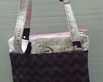 Gracie's Hipster Bag, Crossbody Bag or Purse Riley Blake Zombie Love Fabric