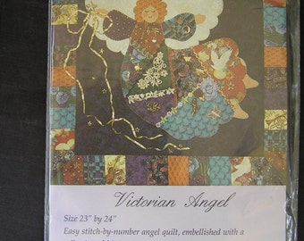 "VICTORIAN ANGEL Quilt Wall Hanger Pattern 23X24"""