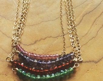 Genstone Layering Necklaces