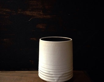 Ships now- white modern kitchen canister utensil holder sara paloma pottery spoon holder white vase palomas