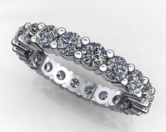mercedes ring - NEO moissanite eternity band, anniversary band