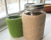 Felted wool large quart mason jar cozy - without jar