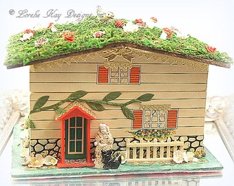 Charlotte's House Music Jewelry Box Rooftop Garden Mixed Media Special Box One-of-a-Kind Mixed Lorelie Kay Original