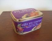 Vintage tin box Paas Easter egg Dye Company elf & rabbit art by Norman Rockwell