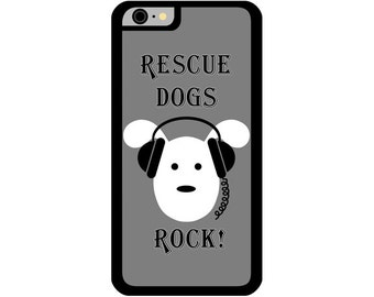 Phone Case - Rescue Dogs Rock- Hard Case for iPhone 4, 4s, 5, 5s, 5c, SE, 6, 6 Plus, 7, 7 Plus - iPod Touch 4, 5/6 - Galaxy