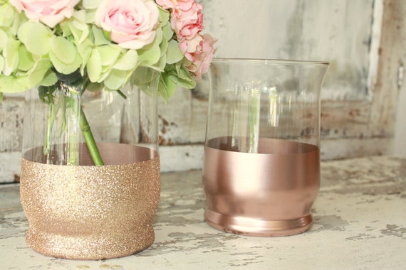 Items similar to rose gold vases wedding decor