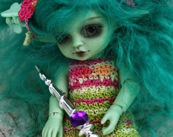 1:12 1/12 Amelia Thimble Petite Blythe Real Puki Lalaloopsy Elfen Elf Sword