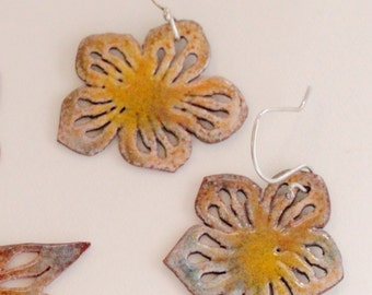 Multi Flower Enamel Earrings