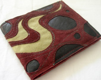 Big Billfold Wallet in Recycled Suede and Leather