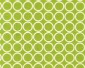 CLEARANCE 3 Yards Robert Kaufman Metro Living Lime Green Circles Fabric