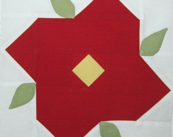 Baby Roses quilt block pattern