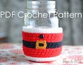 Santa Claus Mason Jar Cosy Crochet Pattern