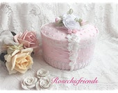 FAKE/faux Cake Pastry Shabby Pink Chenille Chic Roses ecs sct schteam SVFTeam