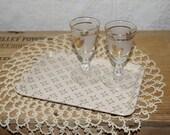 Vintage mid century  Kysite KYS-ITE      small trays  regency cocktail bar ware trays