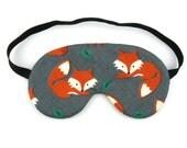 Orange Fox Sleep Eye Mask, Sleeping Mask, Travel Mask, Eye Mask, Sleep Mask