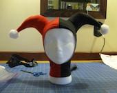 handmade harley quinn hood
