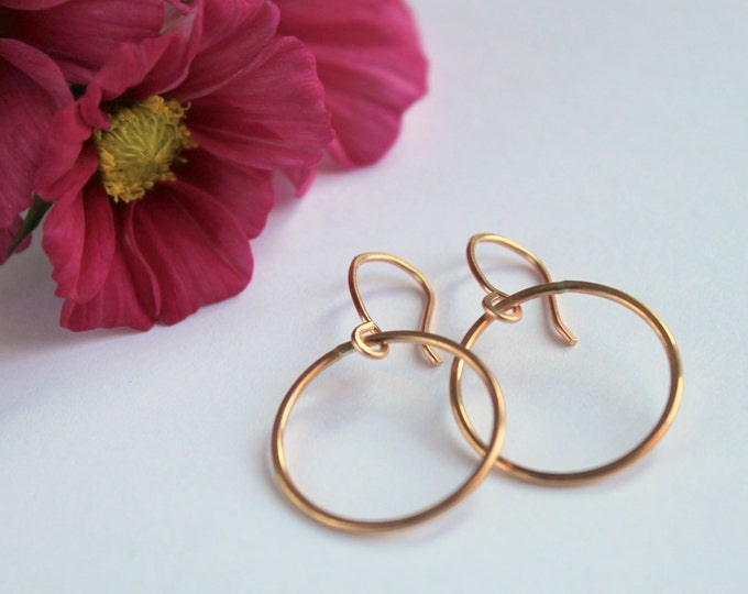 Circle Earrings - Rose Gold Fill