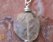 Tourmalinated Quartz, Thai and Sterling Silver Pendant / Necklace