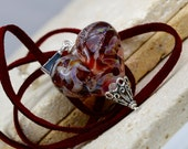 RED Hot ~ Glass Lampwork Heart Pendant
