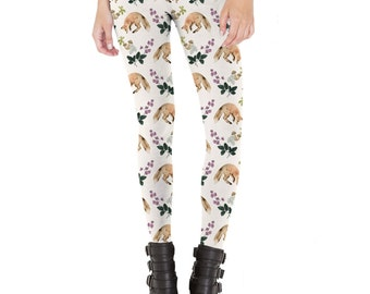 Woodland Fox Pattern Leggings  Made in USA
