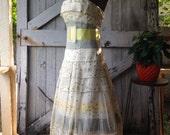 Carolina Herrera dress strapless party dress 50s style dress bridesmaid dress size 2 small Vintage prom dress
