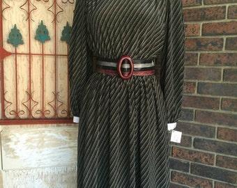 Fall sale 1980s dress Pierre Cardin dress 80s dress office dress size small Vintage dress secretary dress