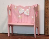Miniature Sweetheart bench